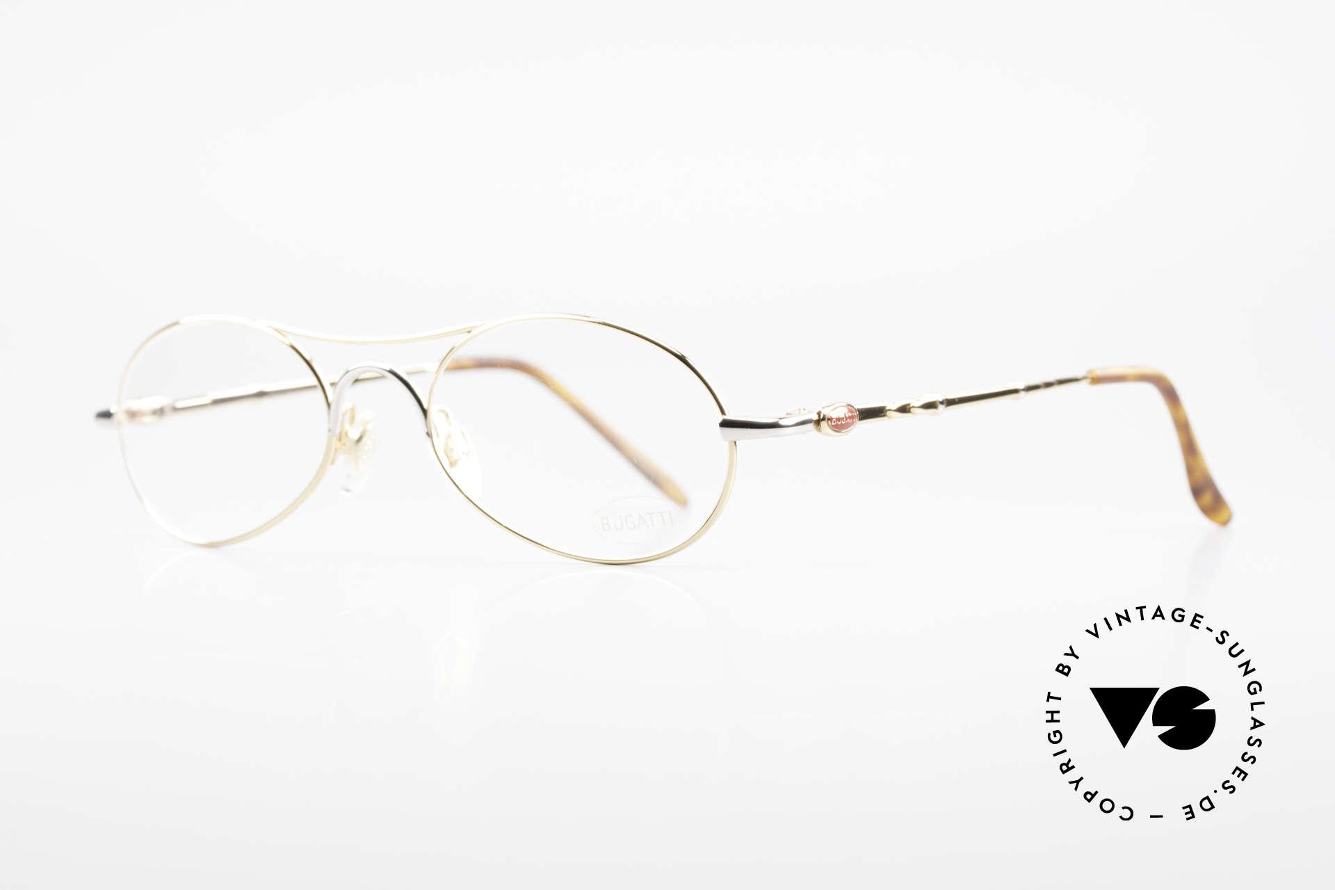 Bugatti 10608 90's Luxury Men's Eyeglasses, flexible spring hinges, made around 1995 in France, Made for Men