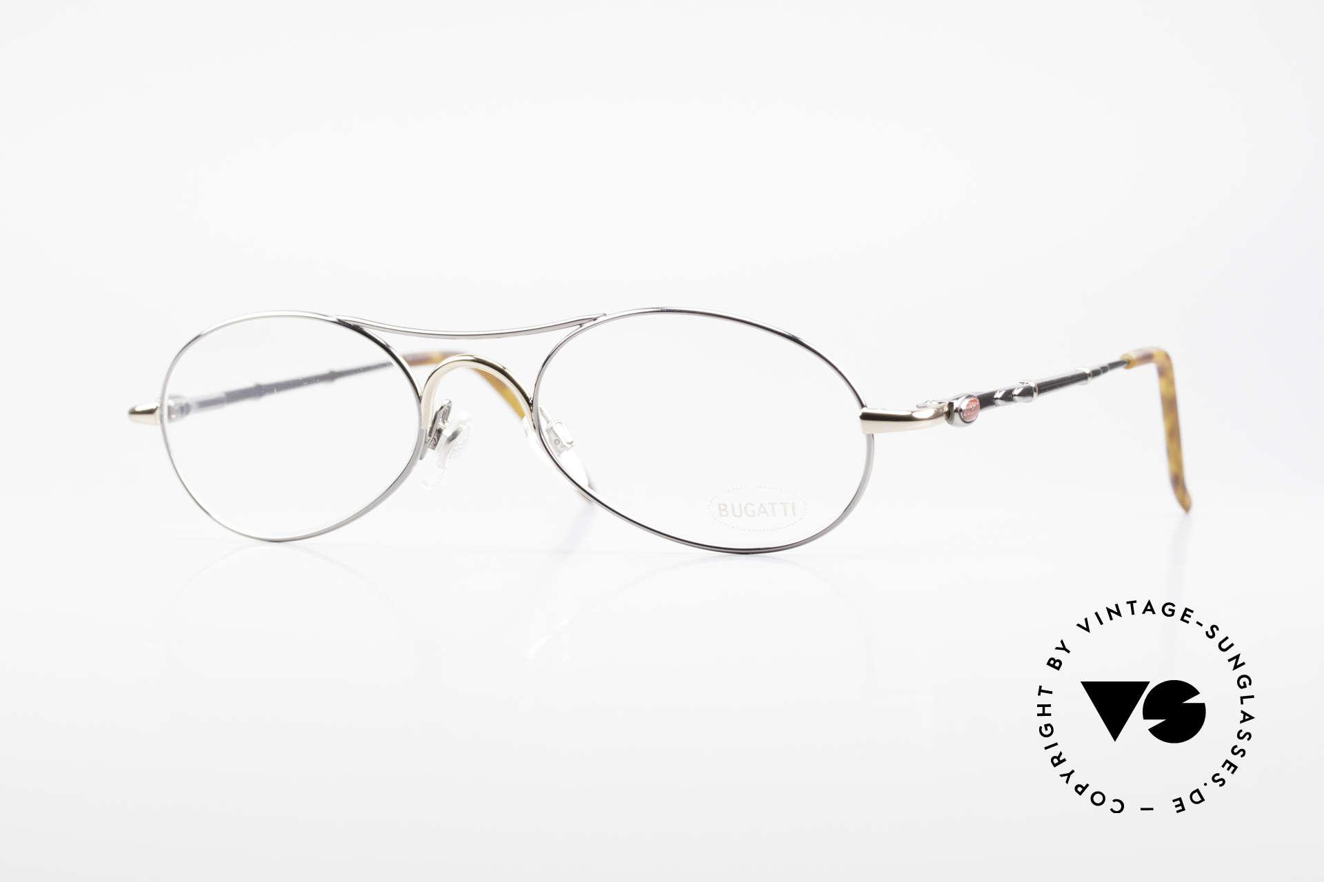 Bugatti 10692 Rare Luxury Men's Eyeglasses, very elegant vintage designer eyeglasses by Bugatti, Made for Men