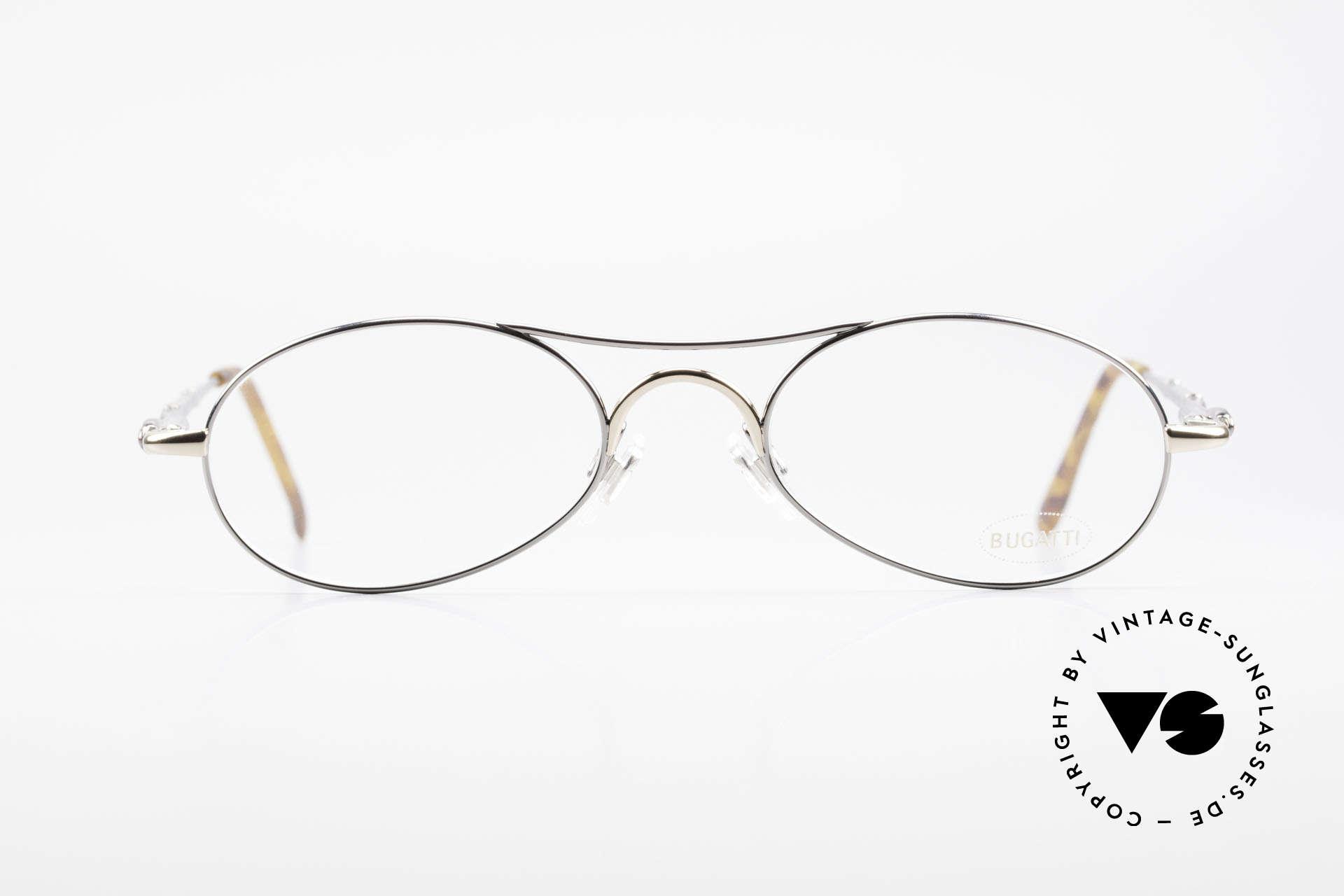 Bugatti 10692 Rare Luxury Men's Eyeglasses, ergonomic frame design (1st class wearing comfort), Made for Men