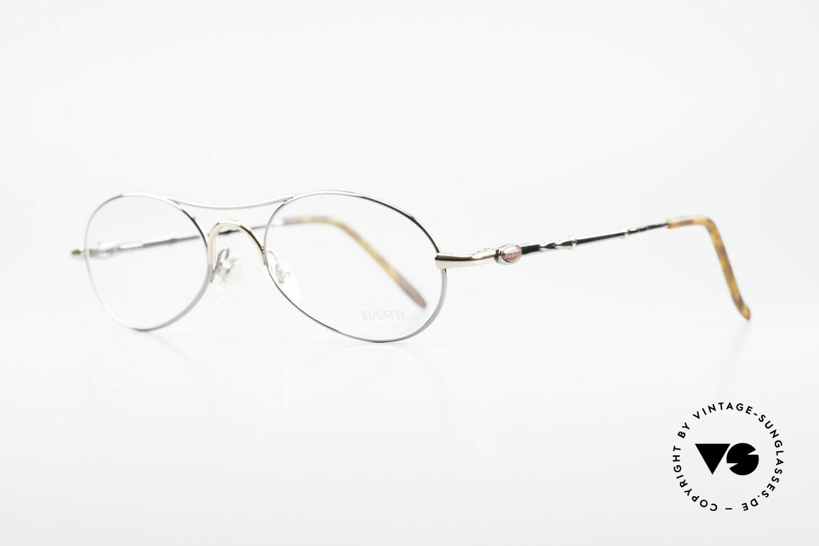 Bugatti 10692 Rare Luxury Men's Eyeglasses, flexible spring hinges, made around 1995 in France, Made for Men