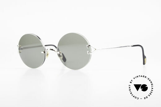 Cartier Madison Round Platinum Sunglasses Details