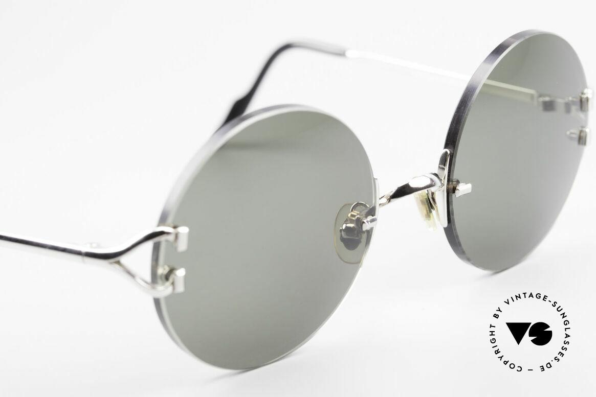 Cartier Madison Round Platinum Sunglasses