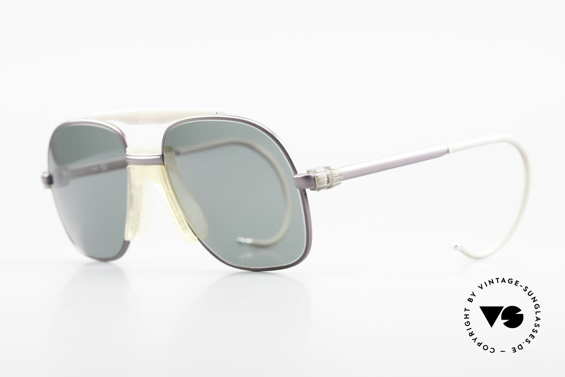 Zeiss 7037 Sports Sunglasses Old School, flexible sports temples for best fitting performance, Made for Men and Women