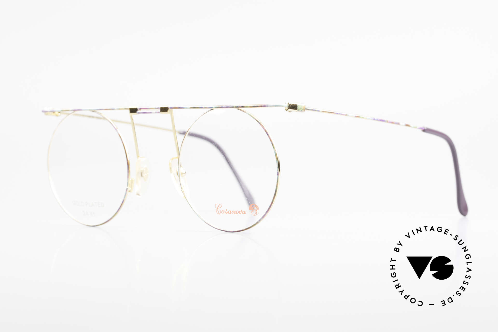 Casanova MTC 7 24Kt Gold Plated Frame, 24Kt gold-plated frame; DEMO lenses can be replaced, Made for Women