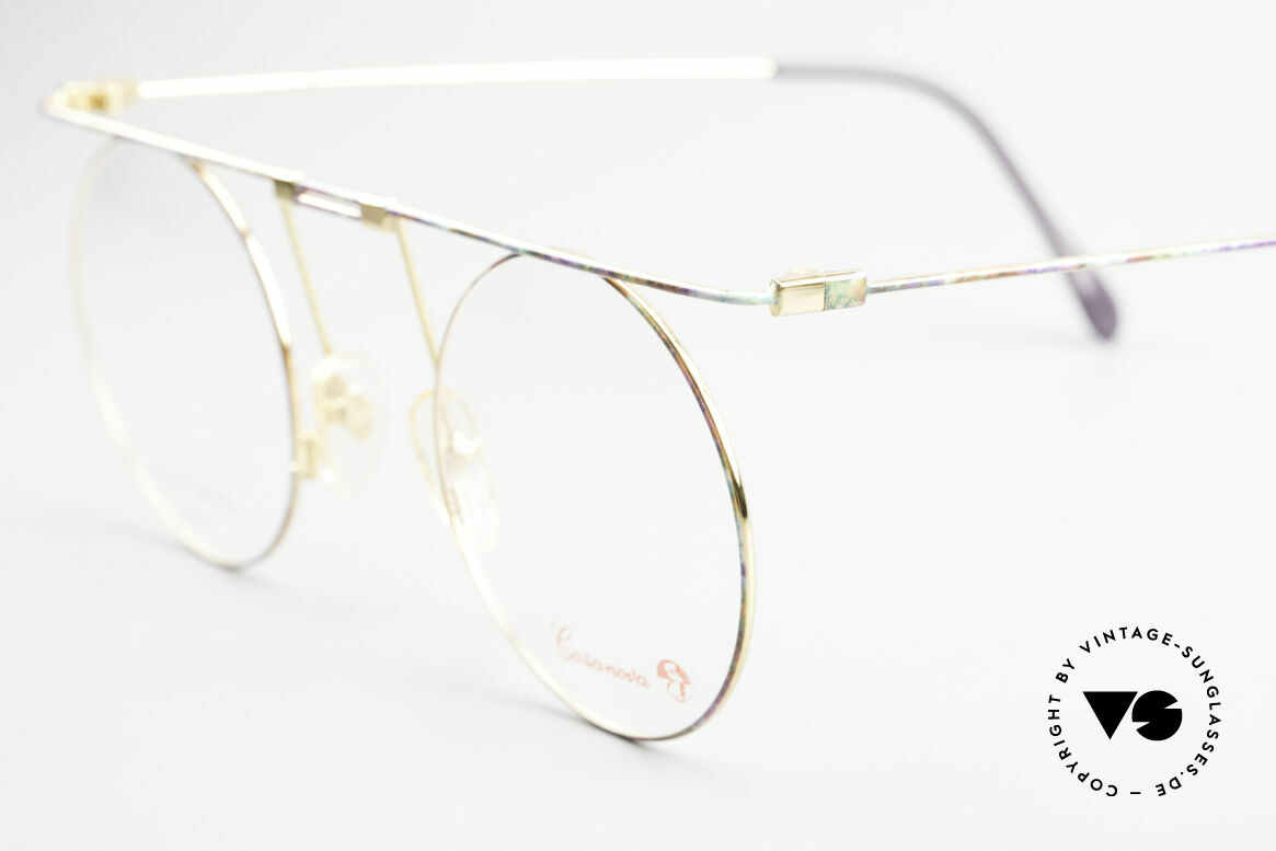 Casanova MTC 7 24Kt Gold Plated Frame, never worn, NOS (like all our artistic vintage eyewear), Made for Women