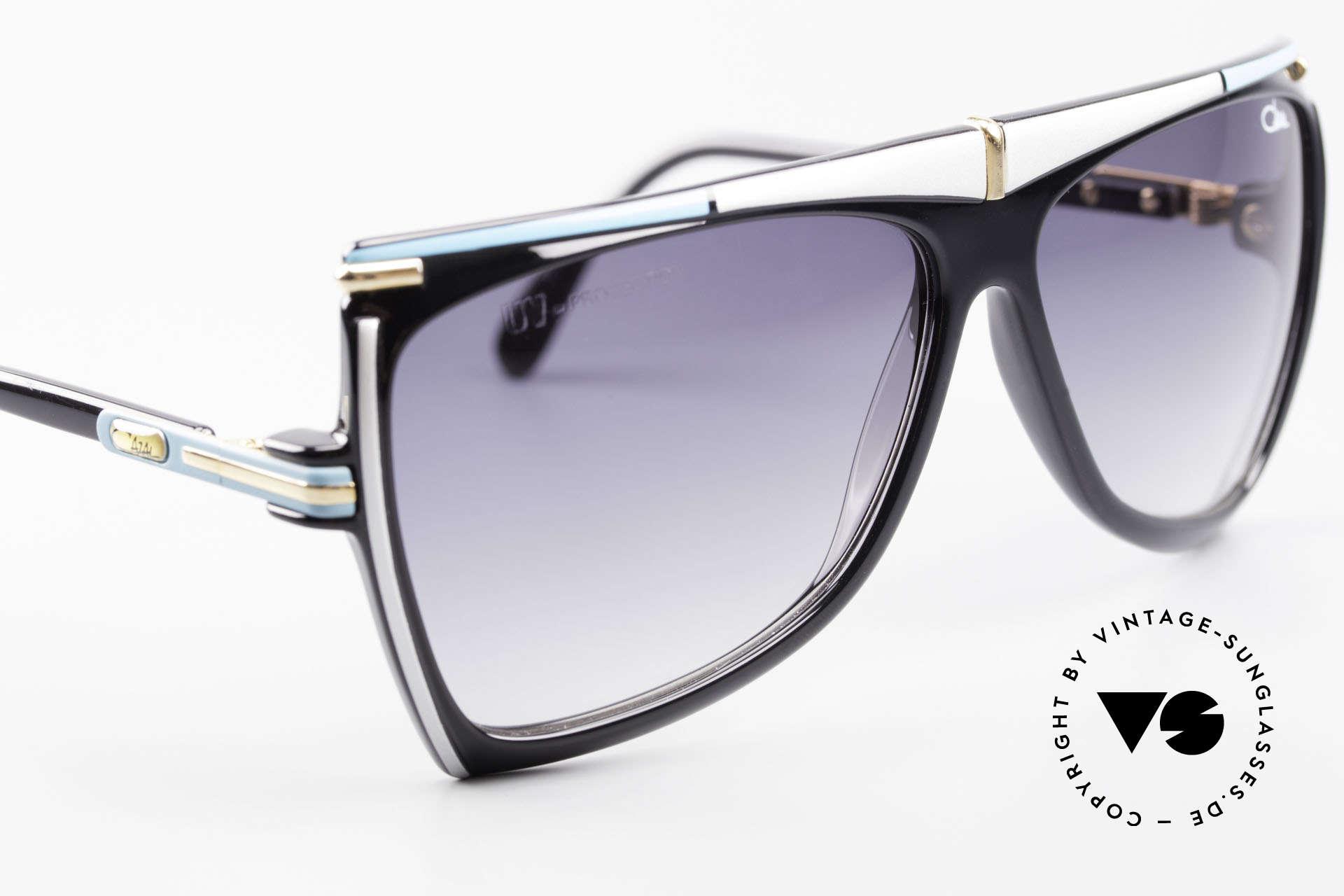 Cazal 862 West Germany Original Cazal, orig. dark gray-gradient sun lenses, 100% UV, Made for Men and Women