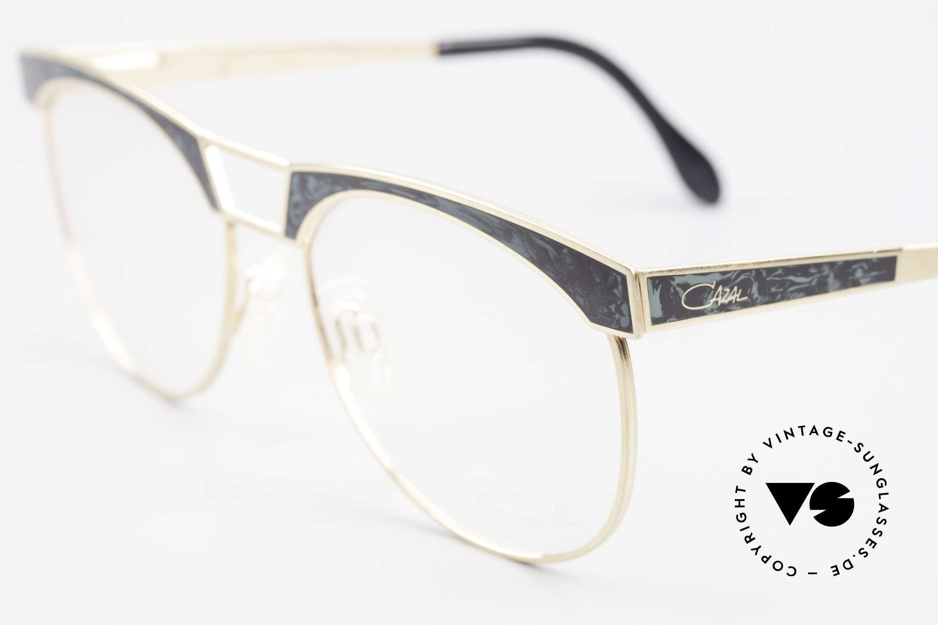 Cazal 741 Panto Style 90's Eyeglasses, with flexible spring hinges for a perfect wearing comfort, Made for Men