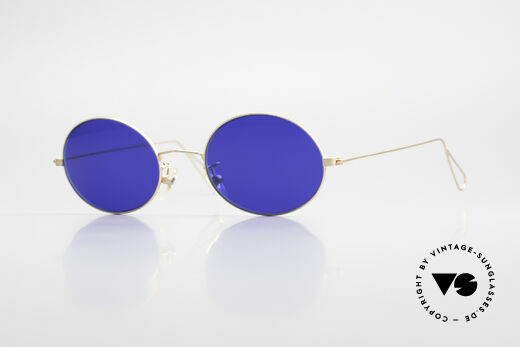 Cutler And Gross 0305 Vintage 90's Sunglasses Oval Details