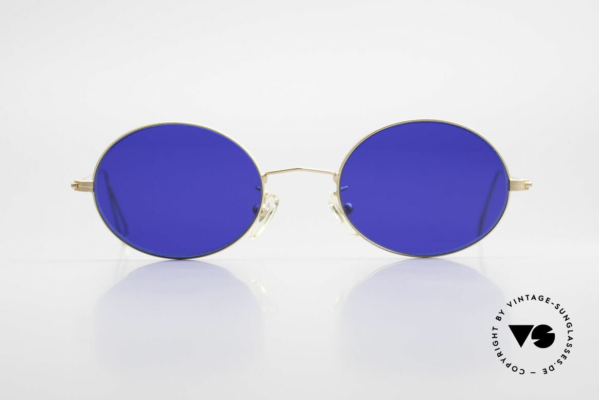 Cutler And Gross 0305 Vintage 90's Sunglasses Oval