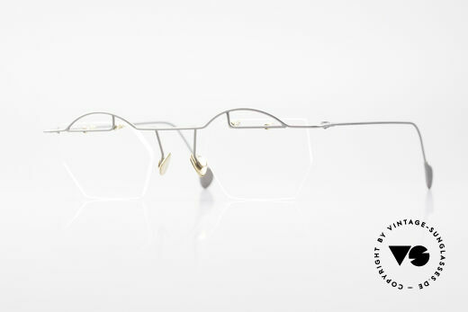 Paul Chiol 12 Rimless Art Glasses Vintage Details