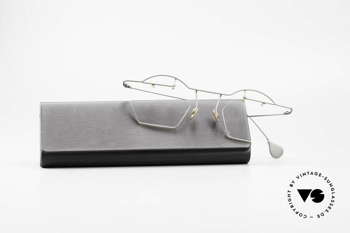 Paul Chiol 12 Rimless Art Glasses Vintage