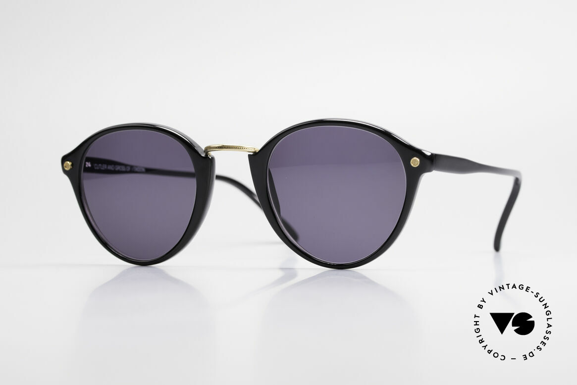 Cutler And Gross 0249 90's Panto Sunglasses Vintage, CUTLER and GROSS designer shades from the late 90's, Made for Men and Women