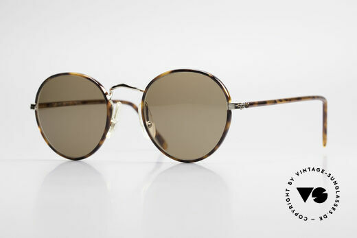 Cutler And Gross 0110 90's Round Designer Sunglasses Details
