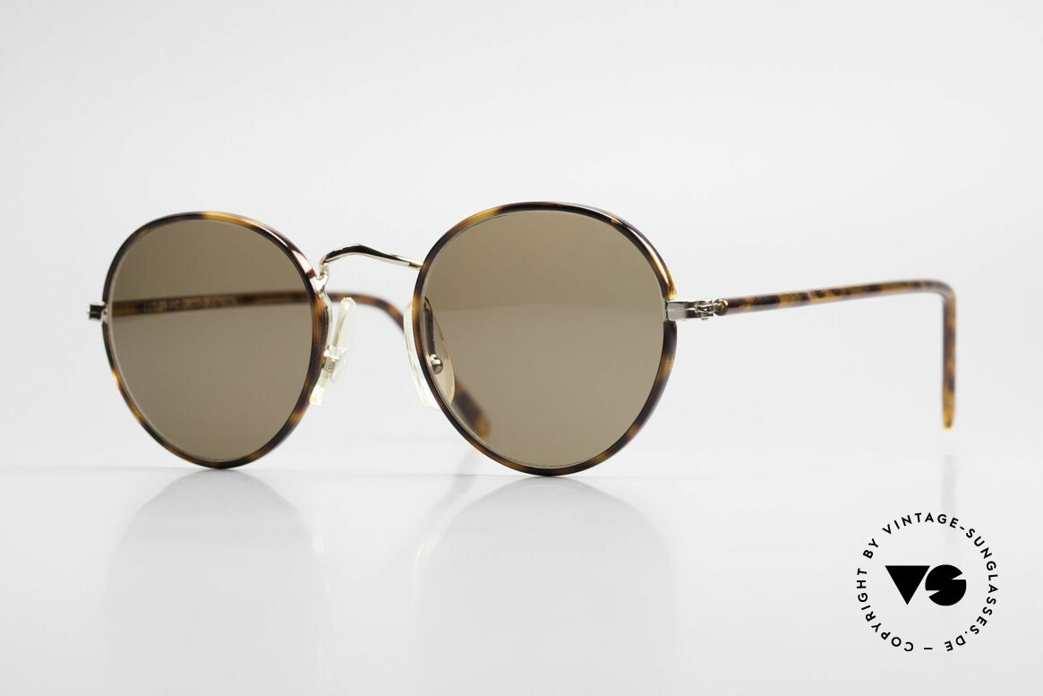 Cutler And Gross 0110 90's Round Designer Sunglasses