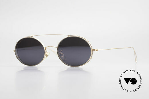 Cutler And Gross 0305 Oval Sunglasses With Clip On Details