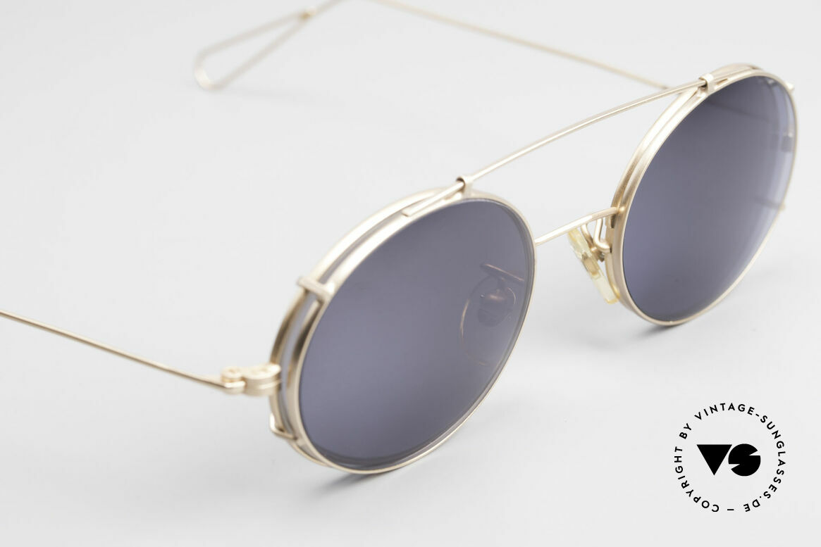 Cutler And Gross 0305 Oval Sunglasses With Clip On