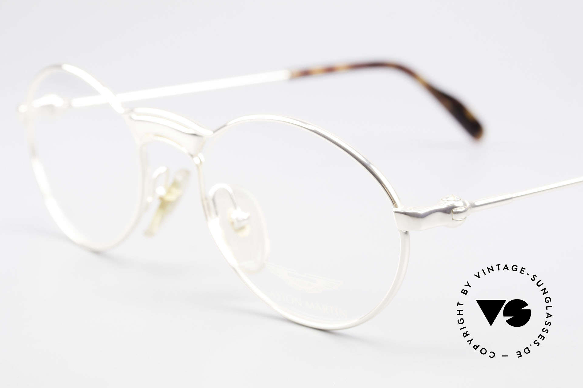 Aston Martin AM01 Oval Glasses James Bond Style, precious rarity (with serial no.) + orig. AM case and box, Made for Men