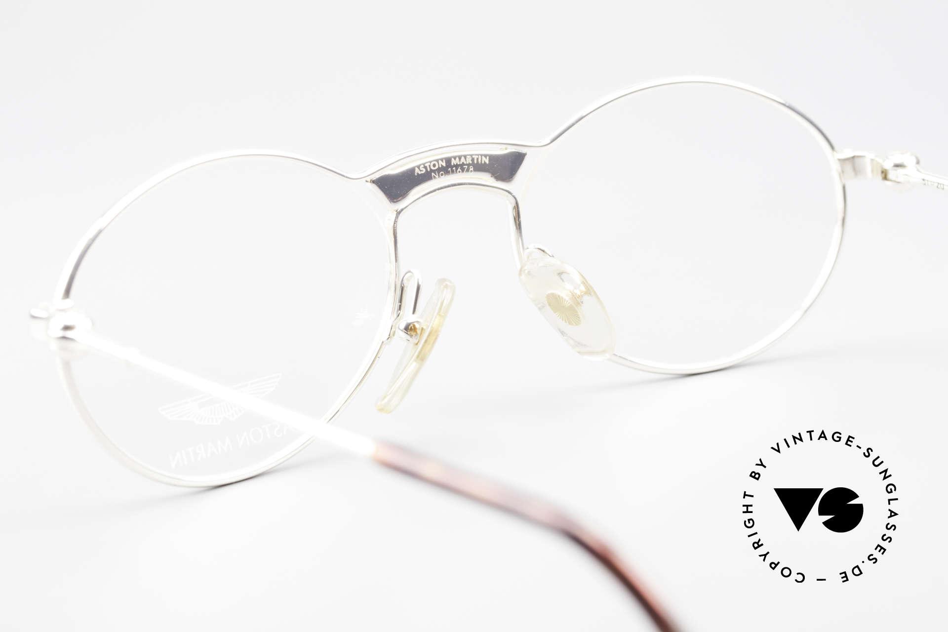 Aston Martin AM01 Oval Glasses James Bond Style, NO RETRO design glasses, but a unique 1990's original!, Made for Men