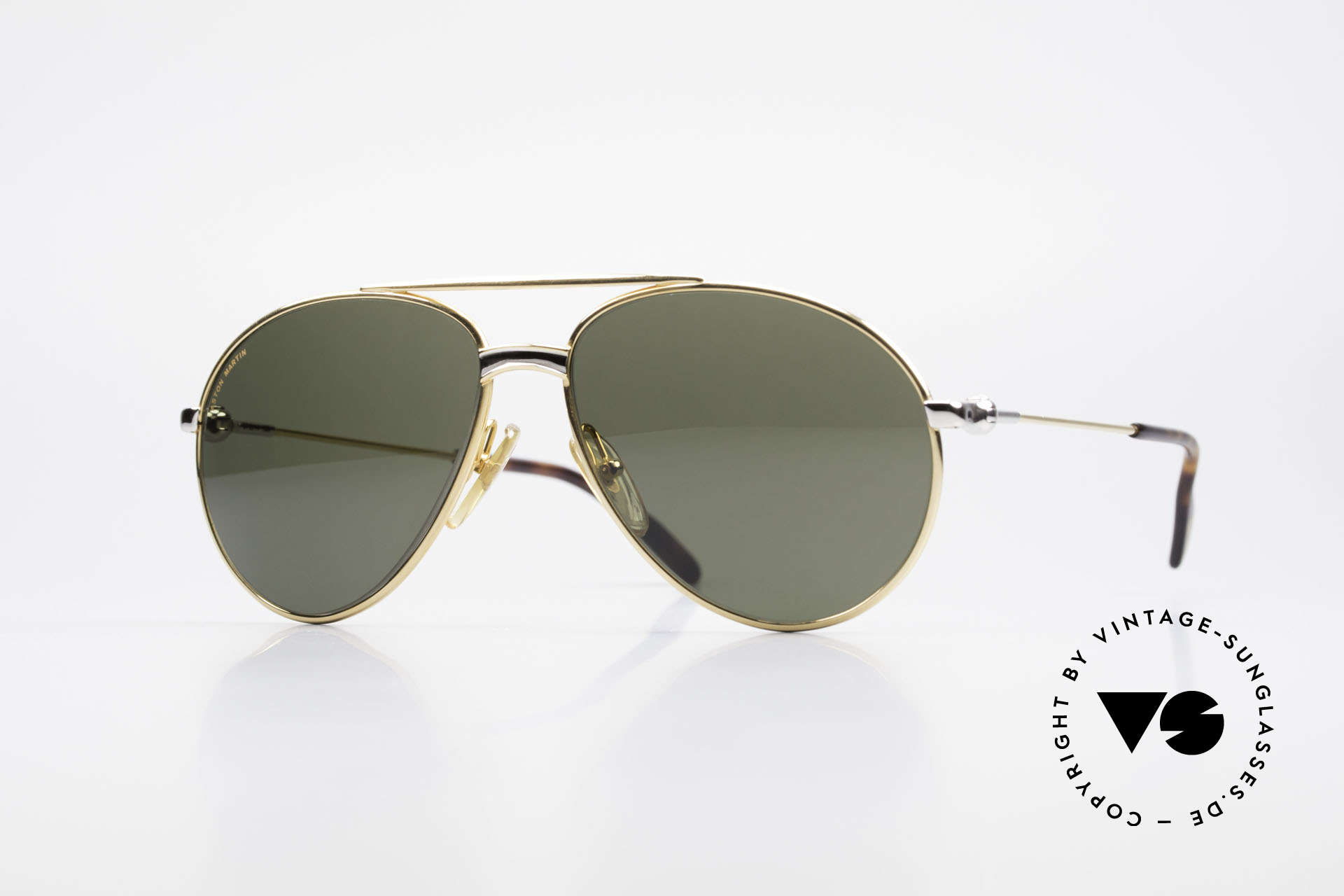 Aston Martin AM02 Aviator Shades James Bond Style, Aston Martin vintage luxury designer sunglasses, 57°14, Made for Men