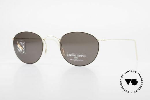 Giorgio Armani 3006 90's Panto Wire Sunglasses Details