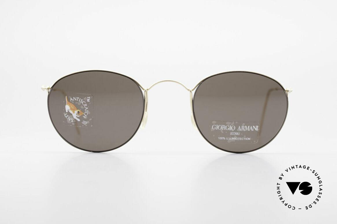 Giorgio Armani 3006 90's Panto Wire Sunglasses