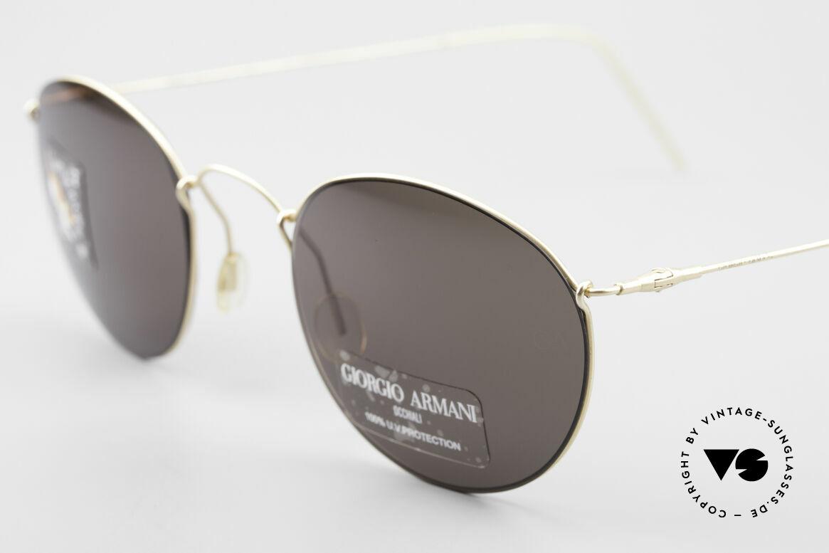 Giorgio Armani 3006 90's Panto Wire Sunglasses, scratch-resistant lenses (100% UV) with GA-engraving, Made for Men