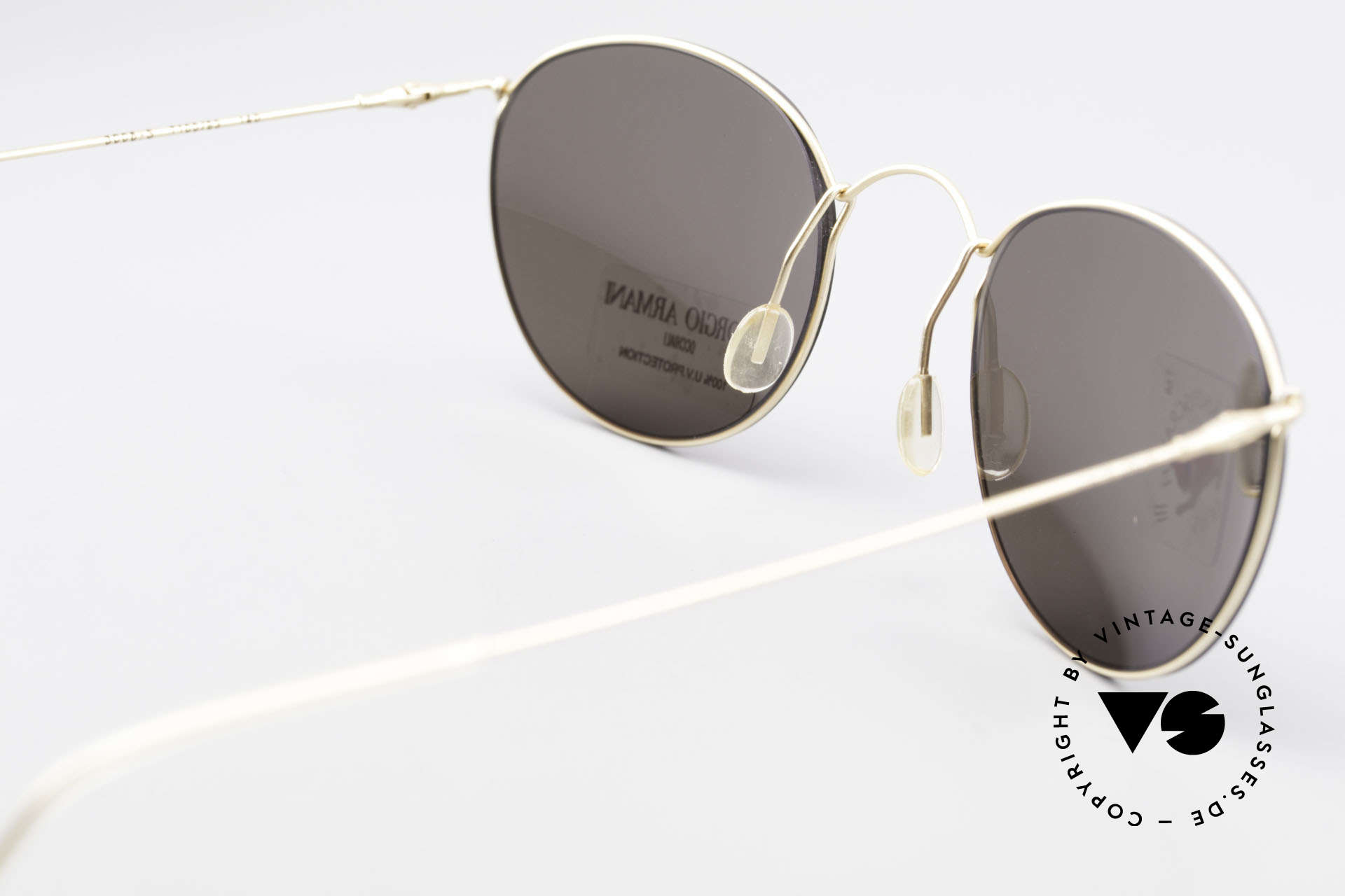 Giorgio Armani 3006 90's Panto Wire Sunglasses, sun lenses can be replaced with prescription lenses, too, Made for Men