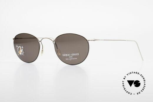 Giorgio Armani 3006 Vintage Panto Wire Glasses Details