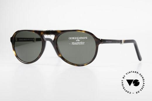 Giorgio Armani 2522 Folding Aviator Sunglasses Details