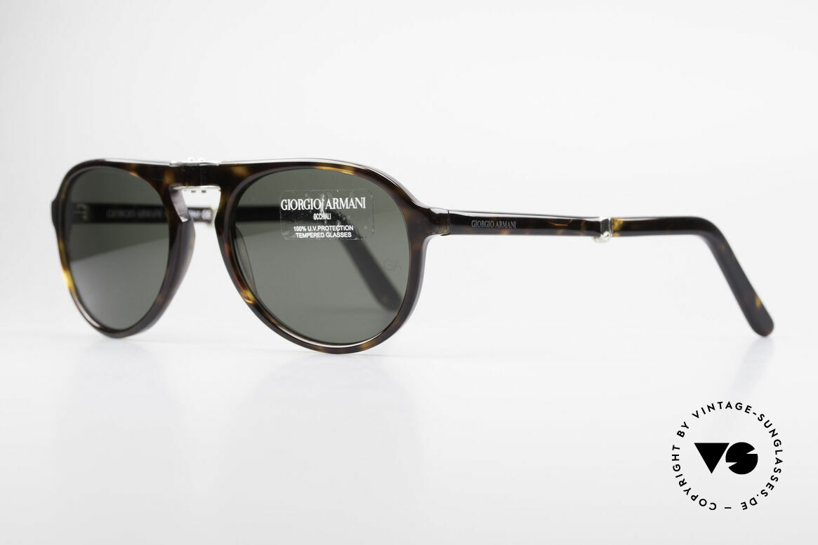 Giorgio Armani 2522 Folding Aviator Sunglasses, very elegant frame coloring and design (size 52-19), Made for Men and Women