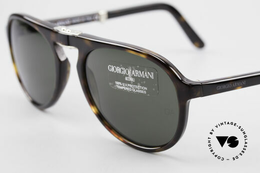 Giorgio Armani 2522 Folding Aviator Sunglasses