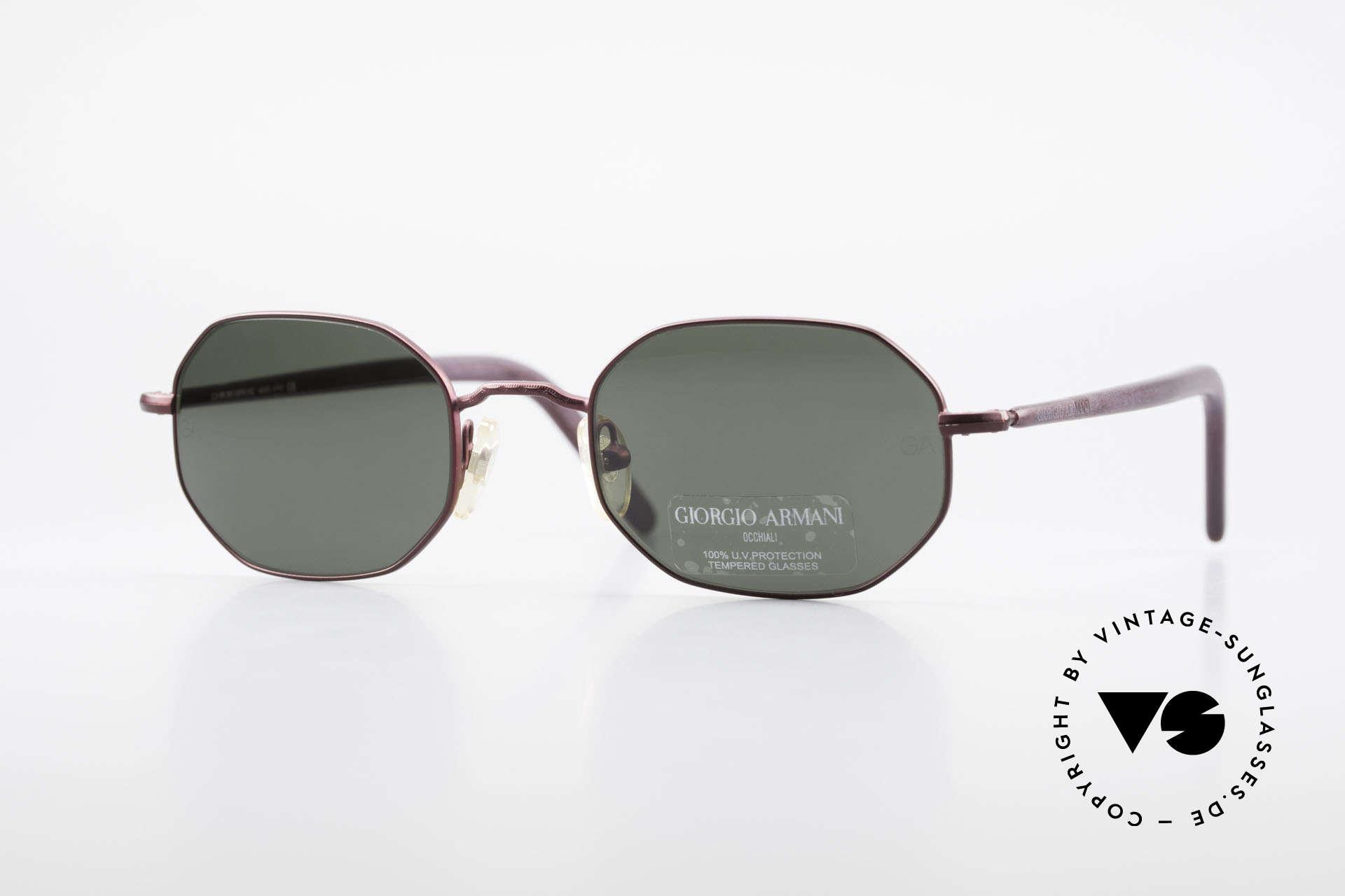 Giorgio Armani 664 Octagonal Vintage Sunglasses, rare vintage sunglasses by famous Giorgio Armani, Made for Men and Women