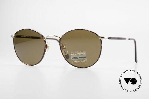 Giorgio Armani 627 Vintage Panto Sunglasses Details