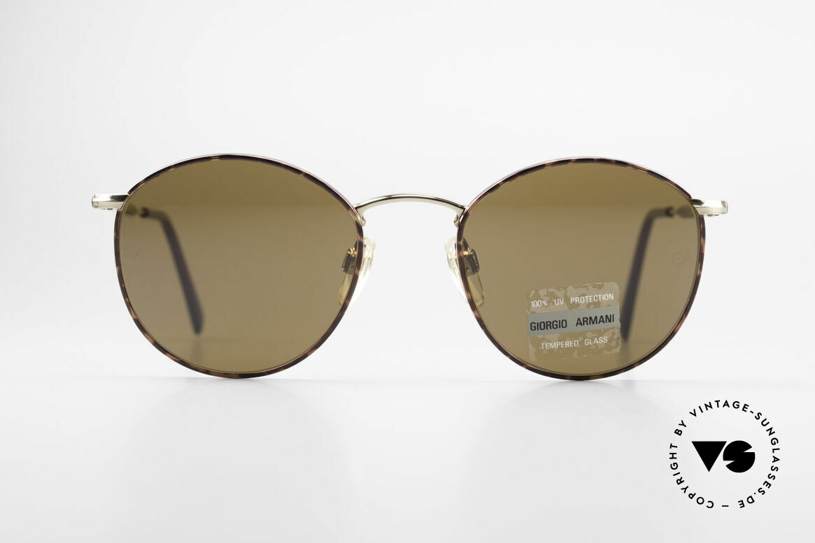 Giorgio Armani 627 Vintage Panto Sunglasses, classic 'PANTO Design' in SMALL size (120mm width), Made for Men and Women