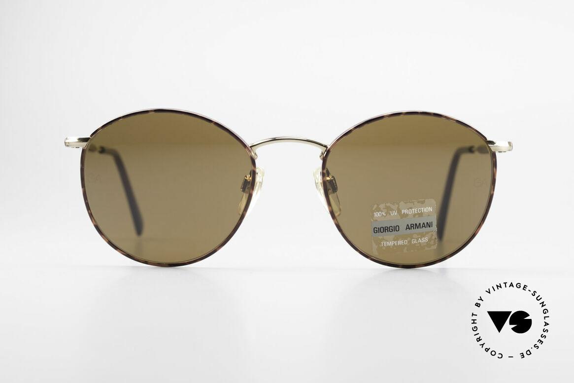 Giorgio Armani 627 Vintage Panto Sunglasses, vintage designer sunglasses by Giorgio Armani, Italy, Made for Men and Women