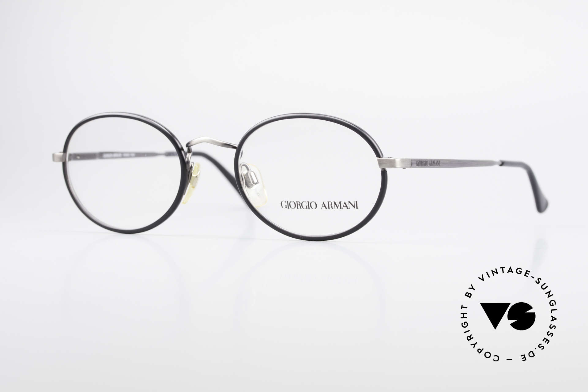 Giorgio Armani 235 Oval Vintage 80's Eyeglasses, vintage designer eyeglass-frame by GIORGIO Armani, Made for Men and Women