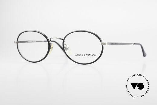Giorgio Armani 235 Oval Vintage 80's Eyeglasses Details
