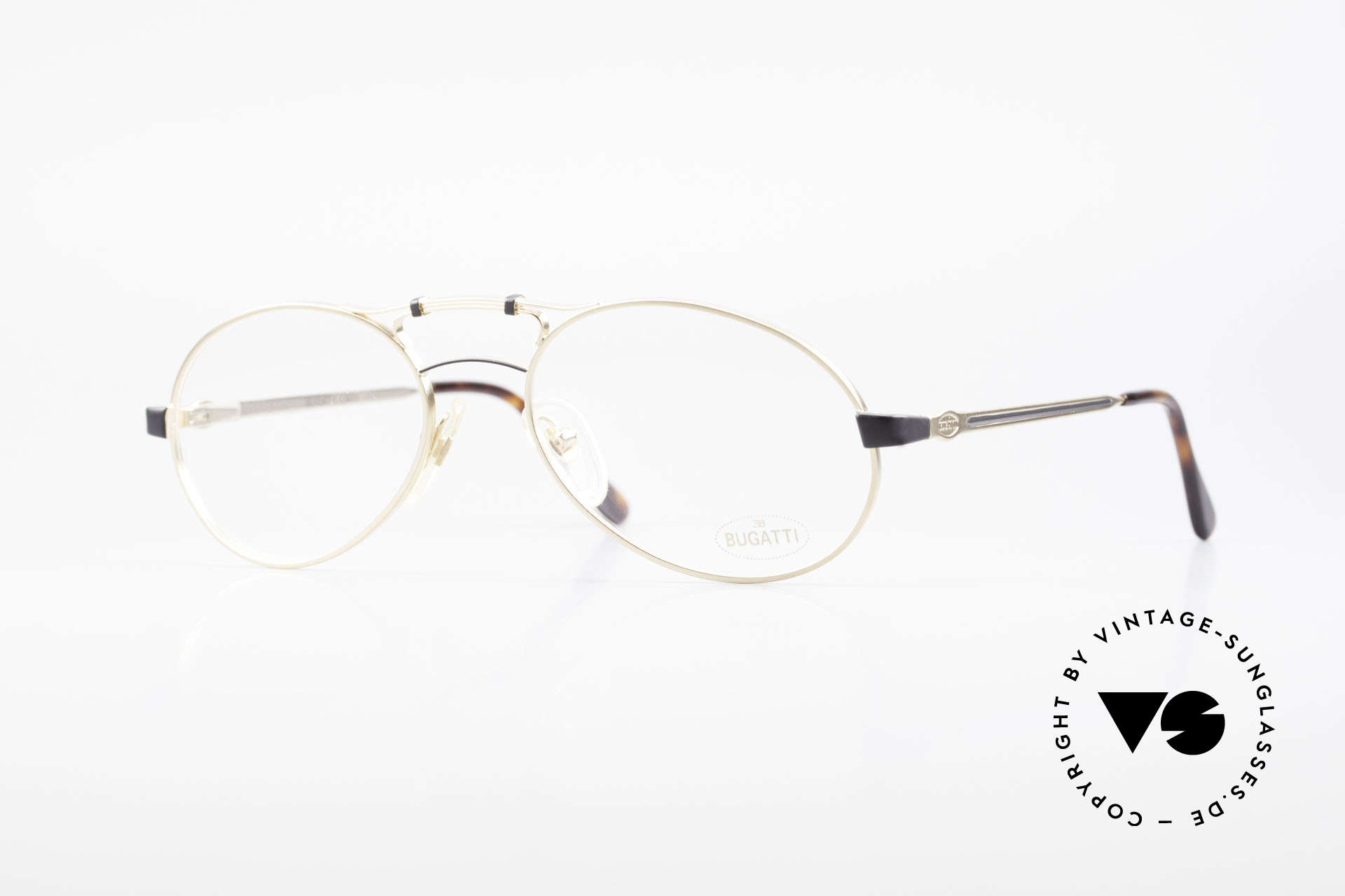 Bugatti 13411 Vintage Men's Eyeglass Frame, antique appearing vintage 90's eyeglasses by Bugatti, Made for Men