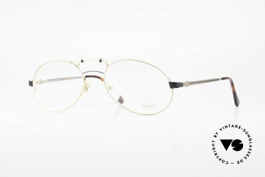 Bugatti 13411 Vintage Men's Eyeglass Frame Details