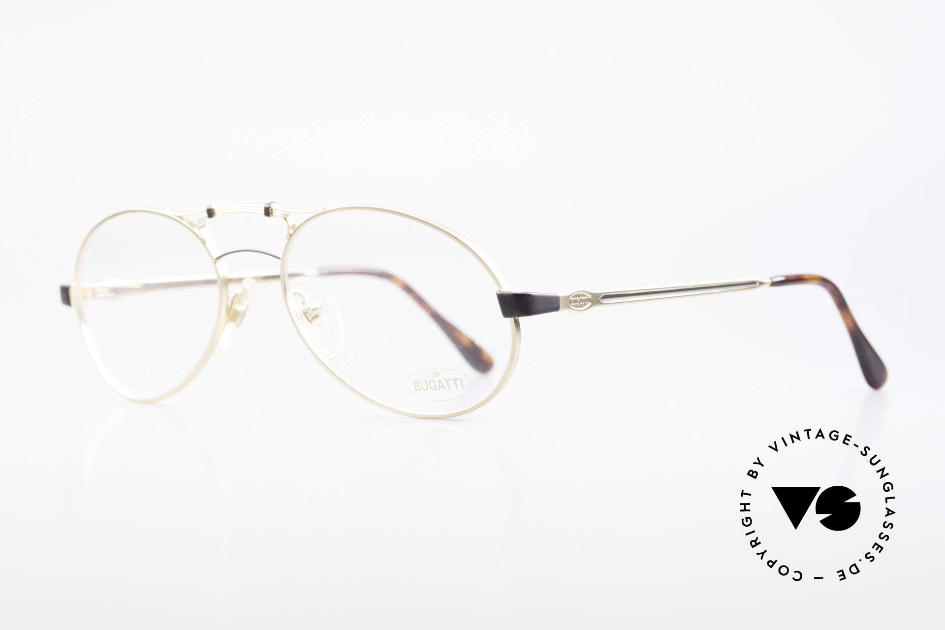 Bugatti 13411 Vintage Men's Eyeglass Frame, Bugatti's legendary men's design (tear drop shaped), Made for Men