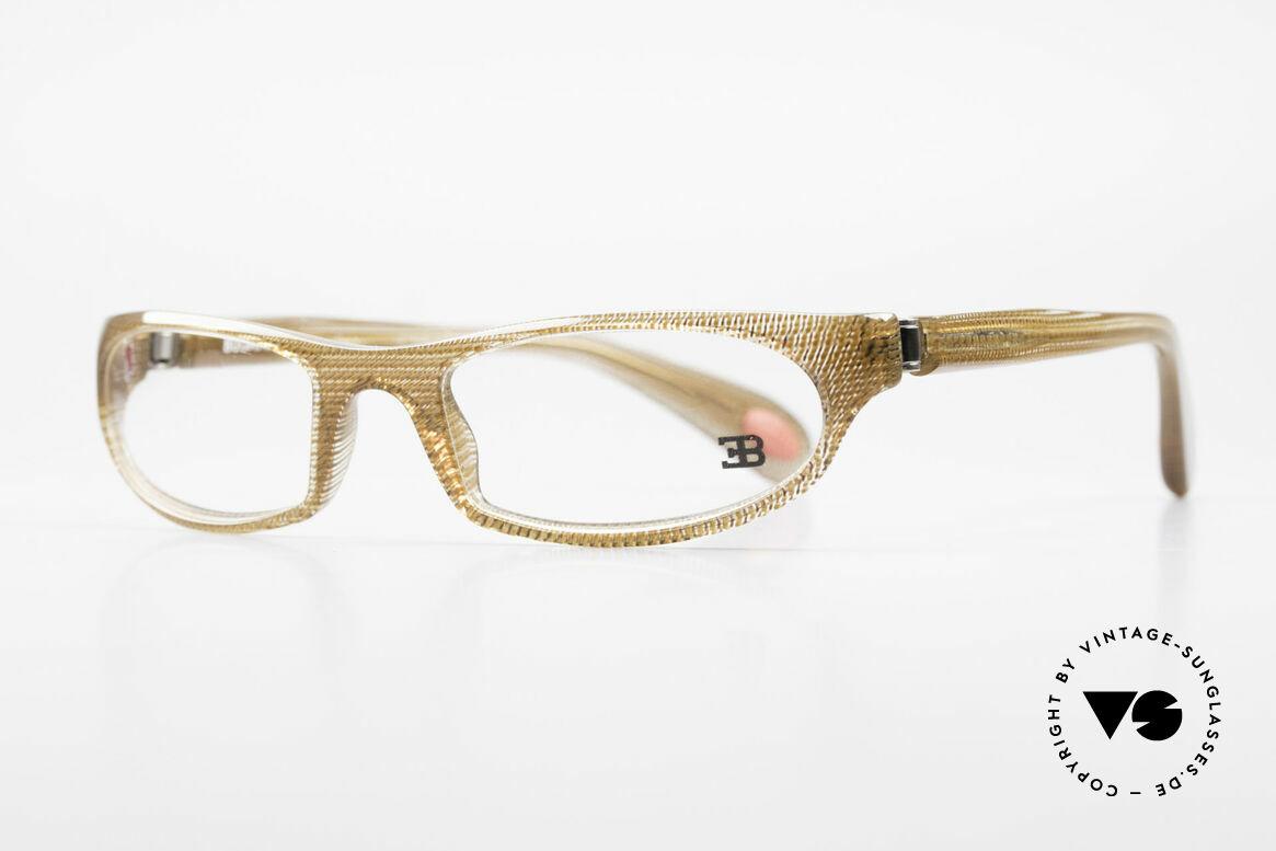 Bugatti 325 Odotype Rare Men's Designer Eyeglasses, ergonomic frame with 180°-spring hinges!, Made for Men