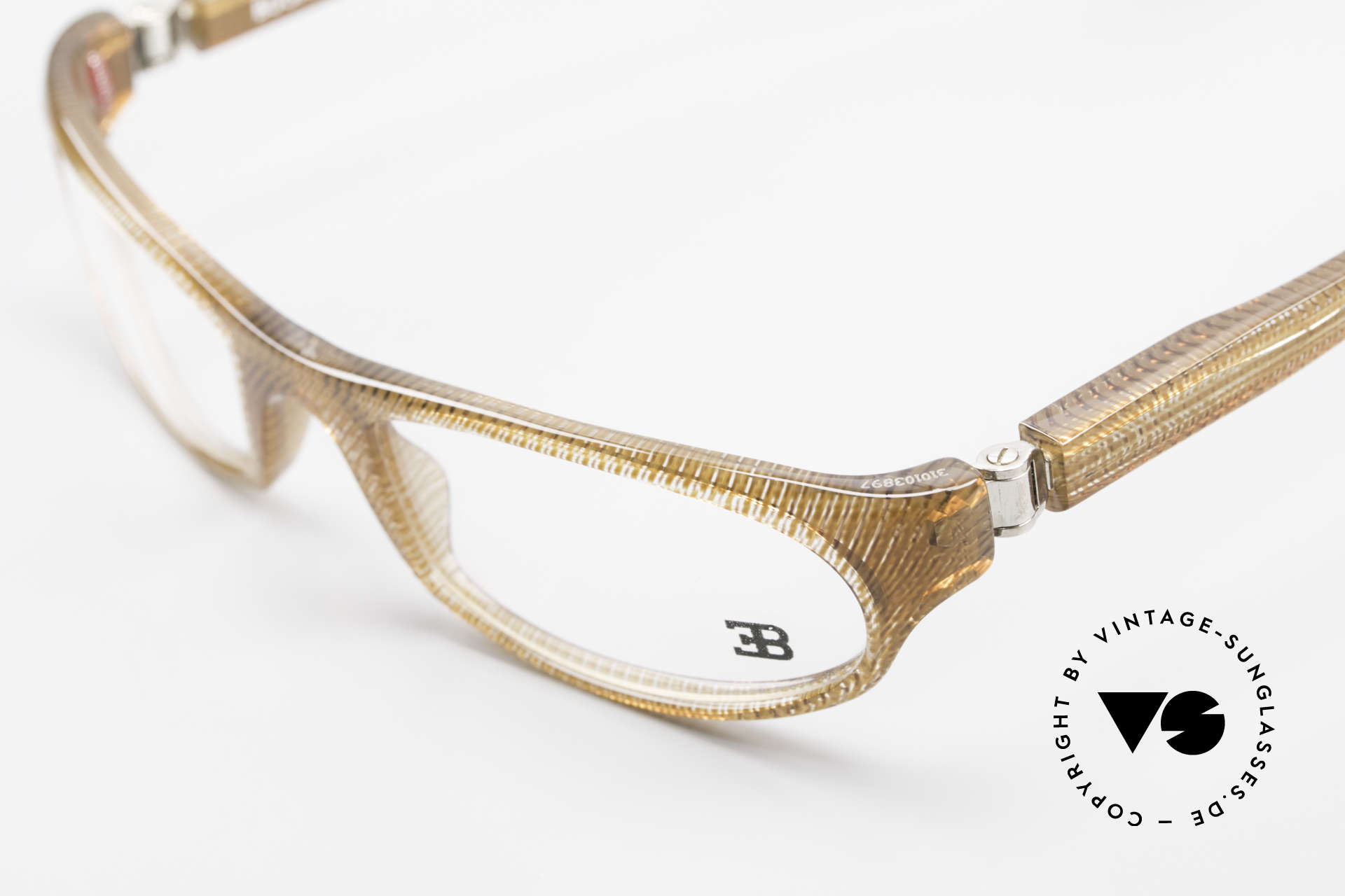 Bugatti 325 Odotype Rare Men's Designer Eyeglasses, very special lens construction; TOP comfort, Made for Men