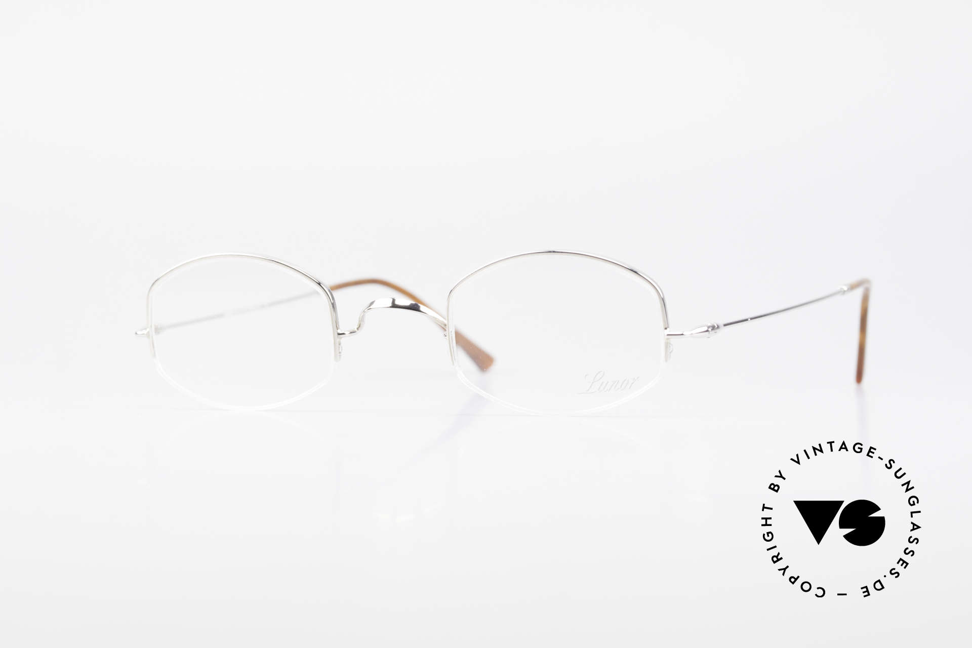 """Lunor String Semi Rimless Vintage Frame, LUNOR: shortcut for French """"Lunette d'Or"""" (gold glasses), Made for Men and Women"""