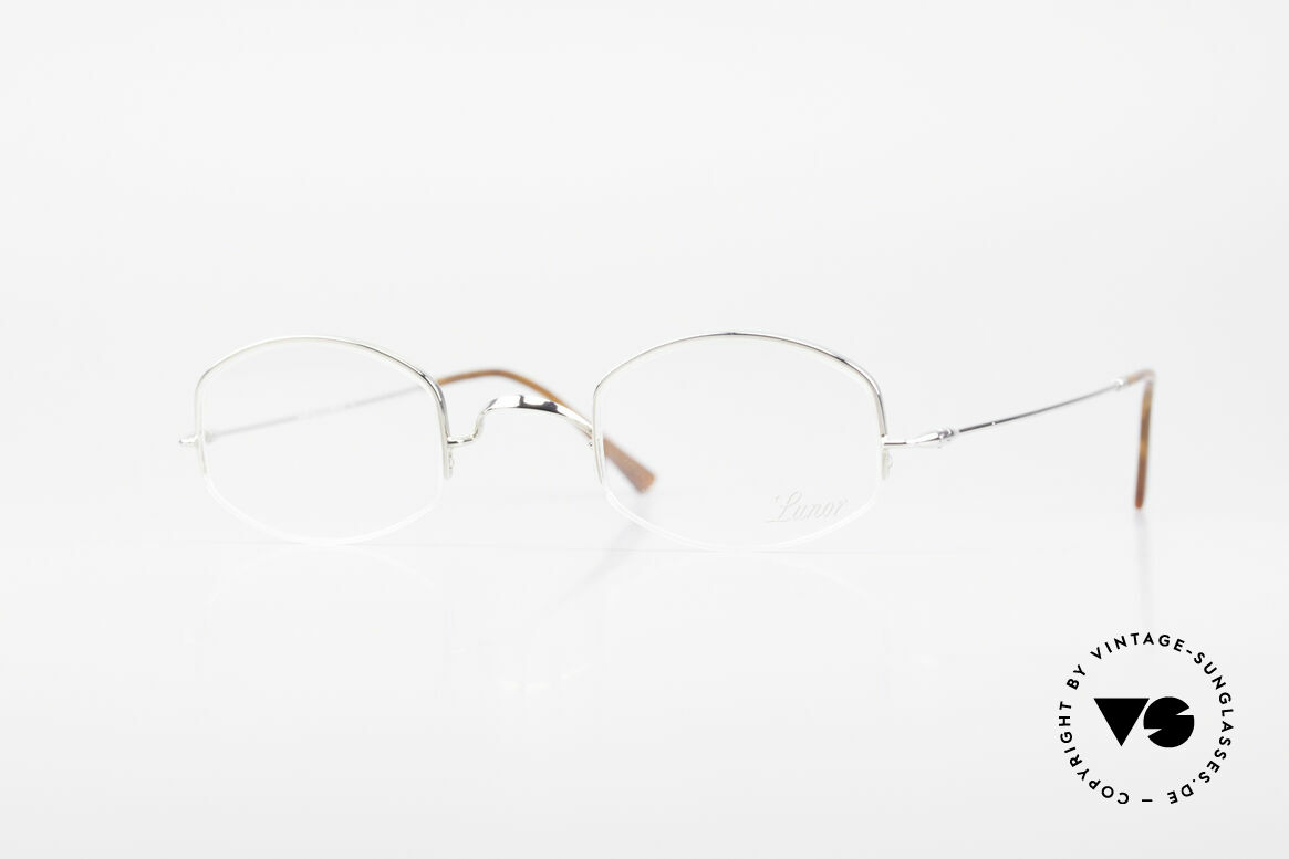 "Lunor String Semi Rimless Vintage Frame, LUNOR: shortcut for French ""Lunette d'Or"" (gold glasses), Made for Men and Women"
