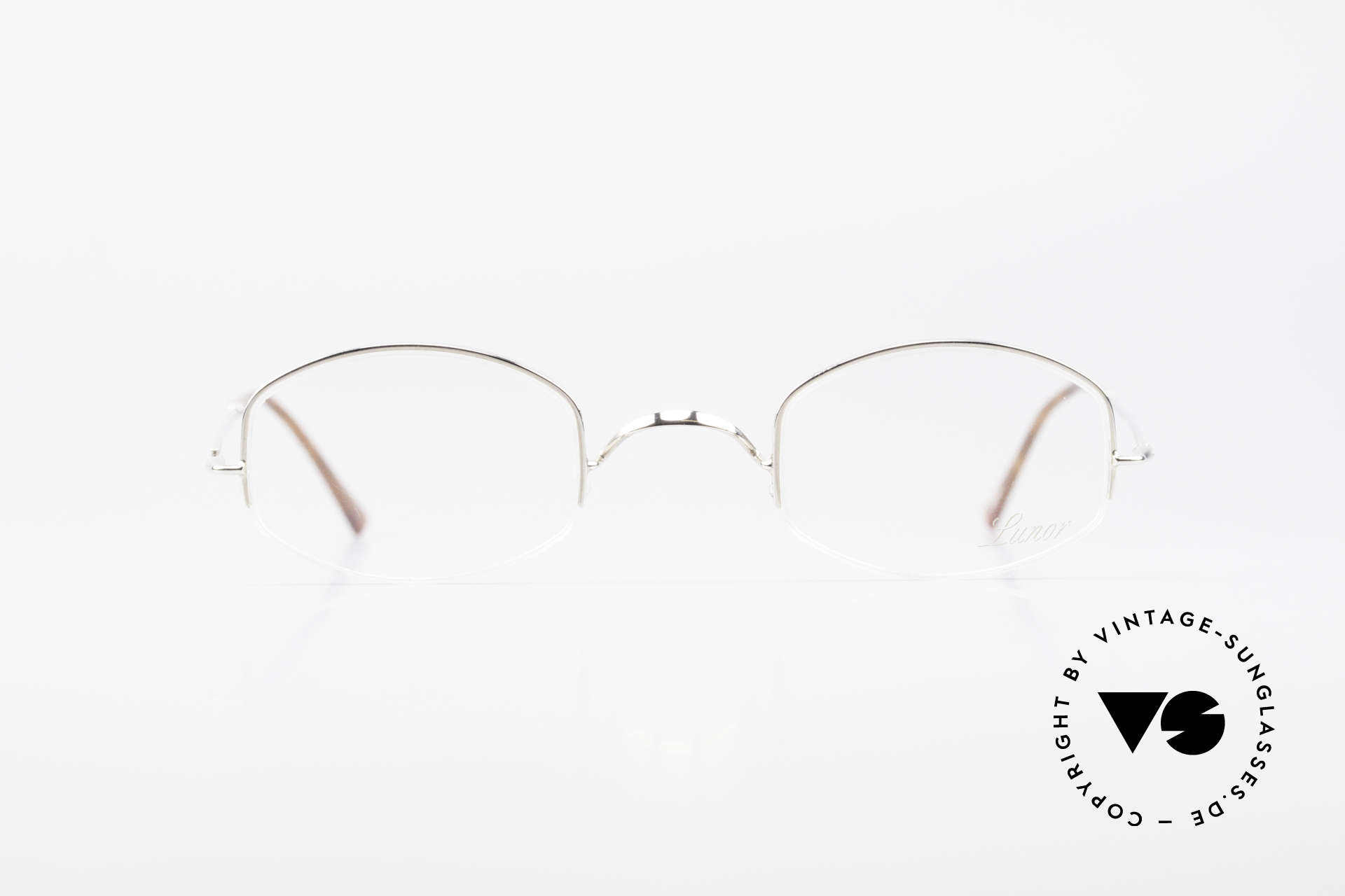 Lunor String Semi Rimless Vintage Frame, traditional German brand; quality handmade in Germany, Made for Men and Women