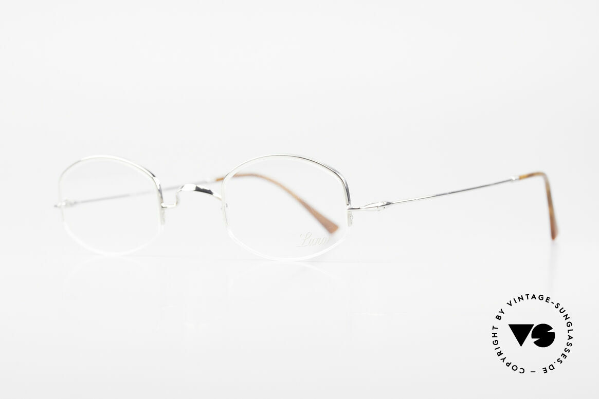 "Lunor String Semi Rimless Vintage Frame, well-known for the ""W-bridge"" & the plain frame designs, Made for Men and Women"