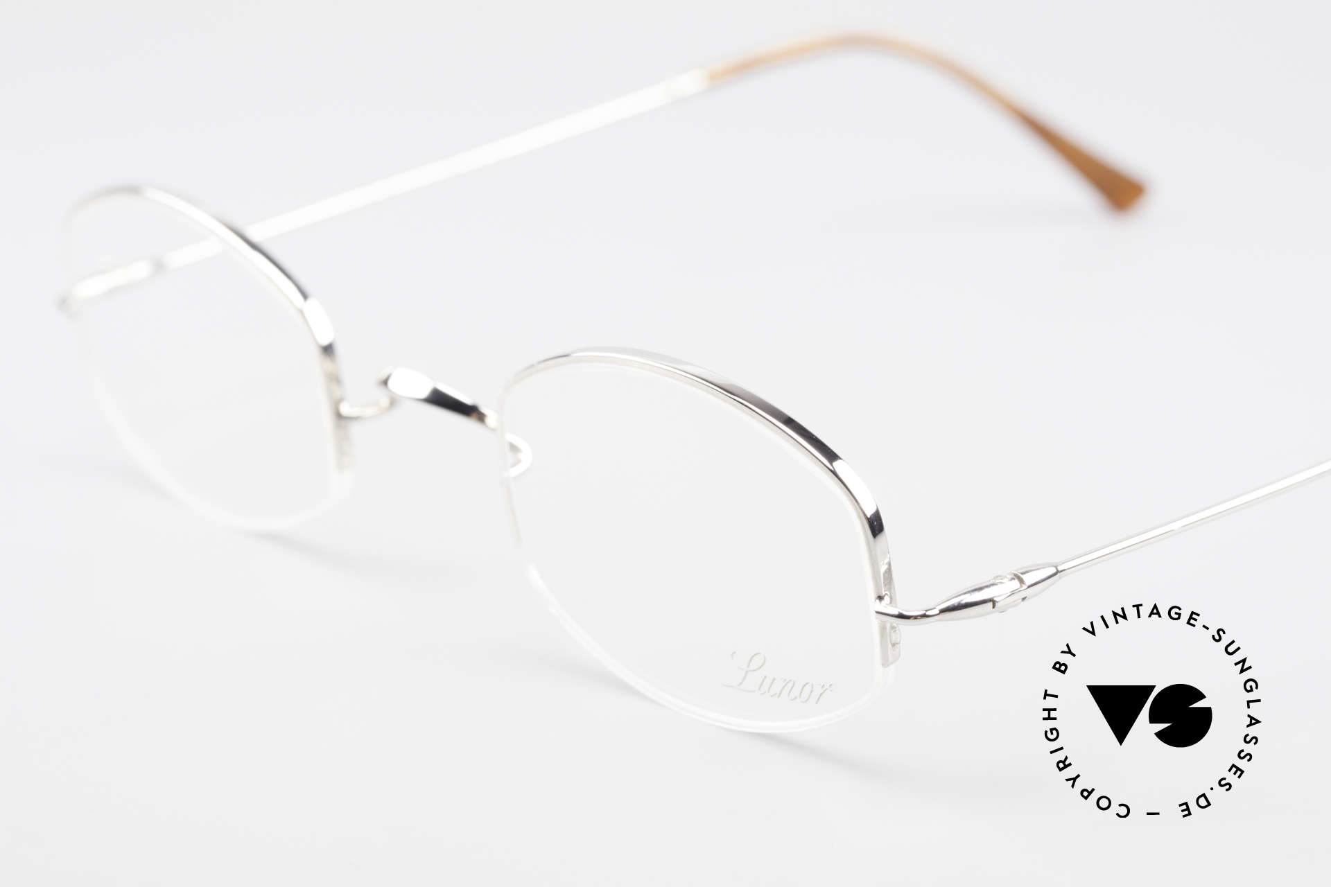 Lunor String Semi Rimless Vintage Frame, unworn RARITY (for all lovers of quality) from app. 1999, Made for Men and Women