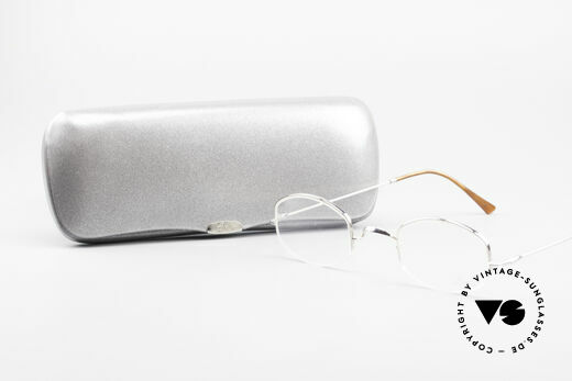 Lunor String Semi Rimless Vintage Frame, the LUNOR frame comes with an original case by LUNOR, Made for Men and Women