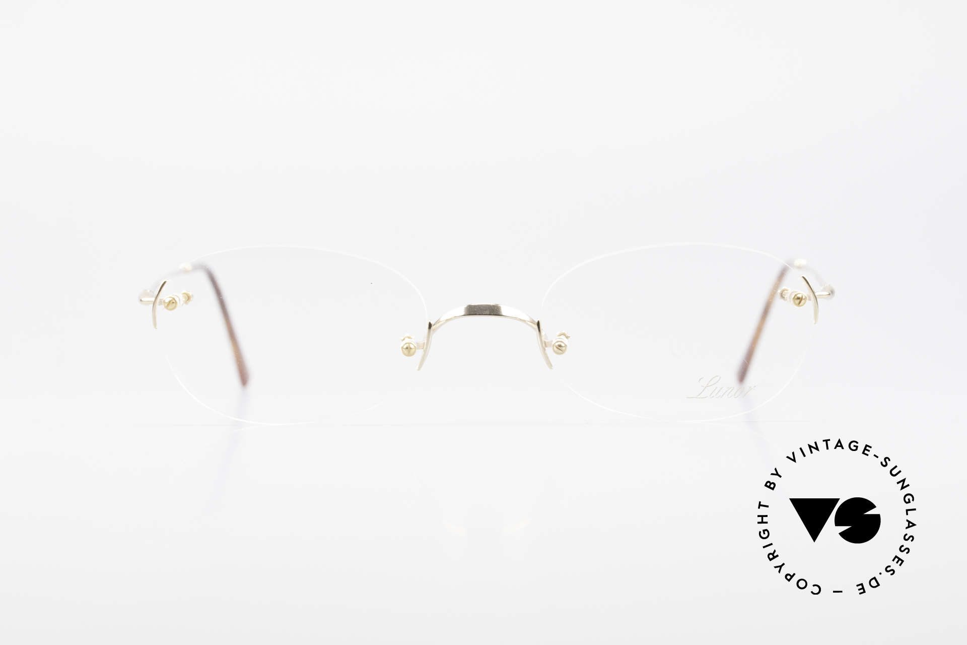 Lunor Classic Future GP Rare Vintage Frame Rimless, traditional German brand; quality handmade in Germany, Made for Men and Women