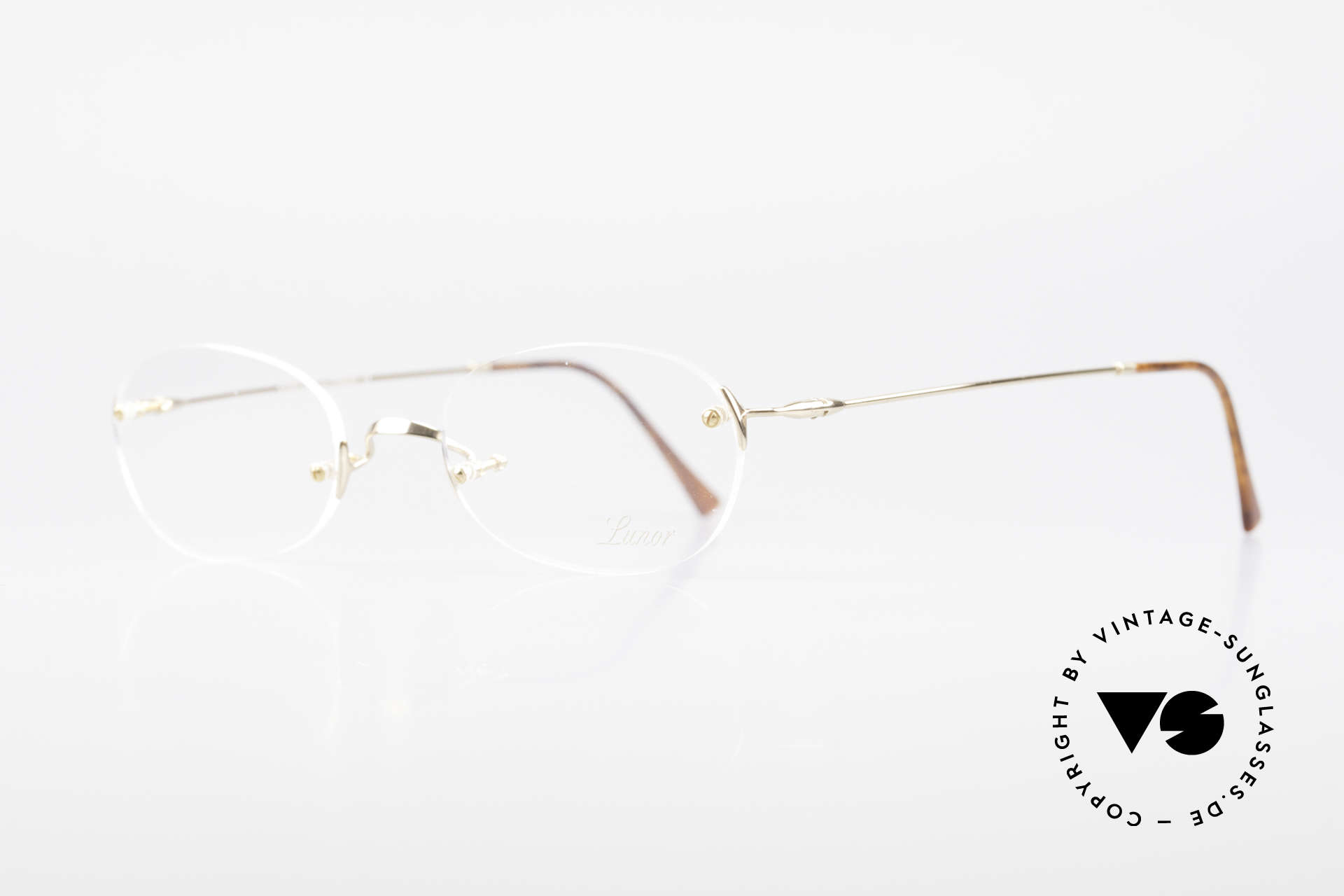 "Lunor Classic Future GP Rare Vintage Frame Rimless, well-known for the ""W-bridge"" & the plain frame designs, Made for Men and Women"